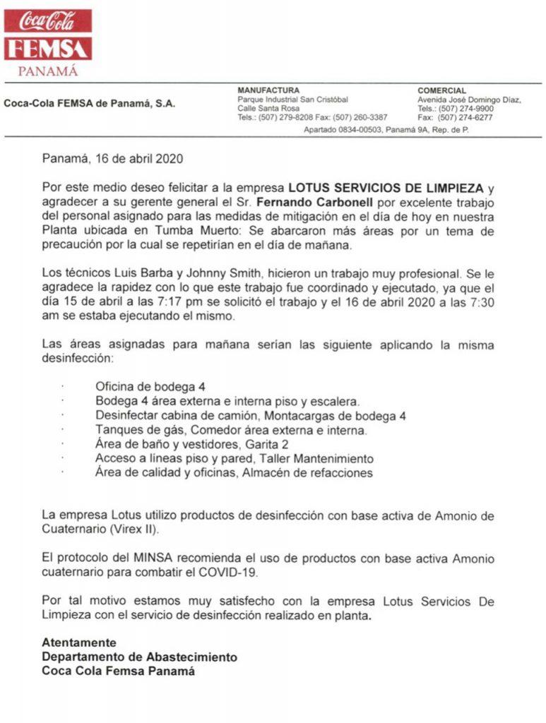 Servicio de desinfección y sanitización en Panamá
